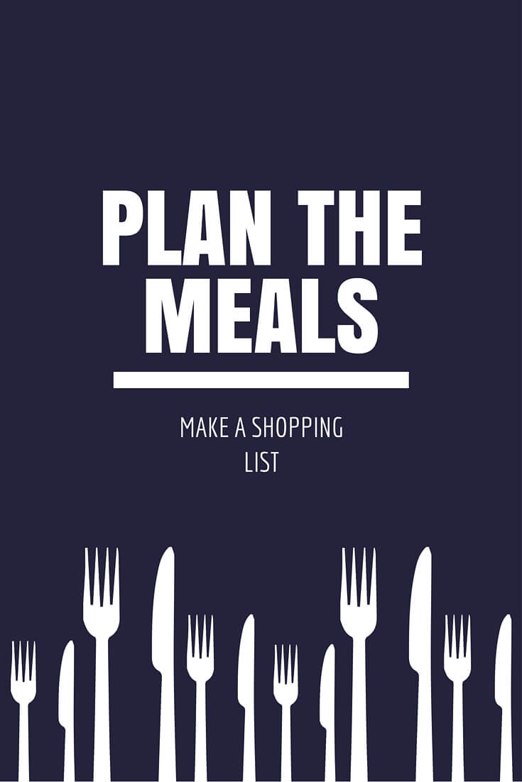 Plan your meal shopping list