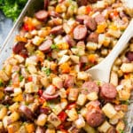 Potato Pepper Sausage Bake
