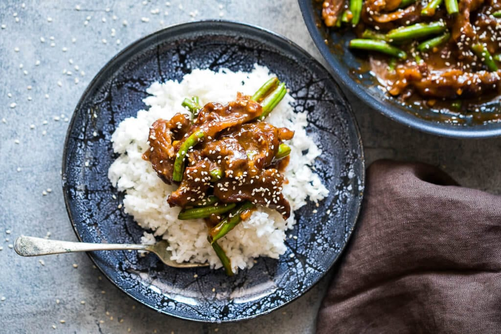 Mongolian Beef easy one skillet dinner solution