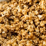 Caramel corn made with brown sugar