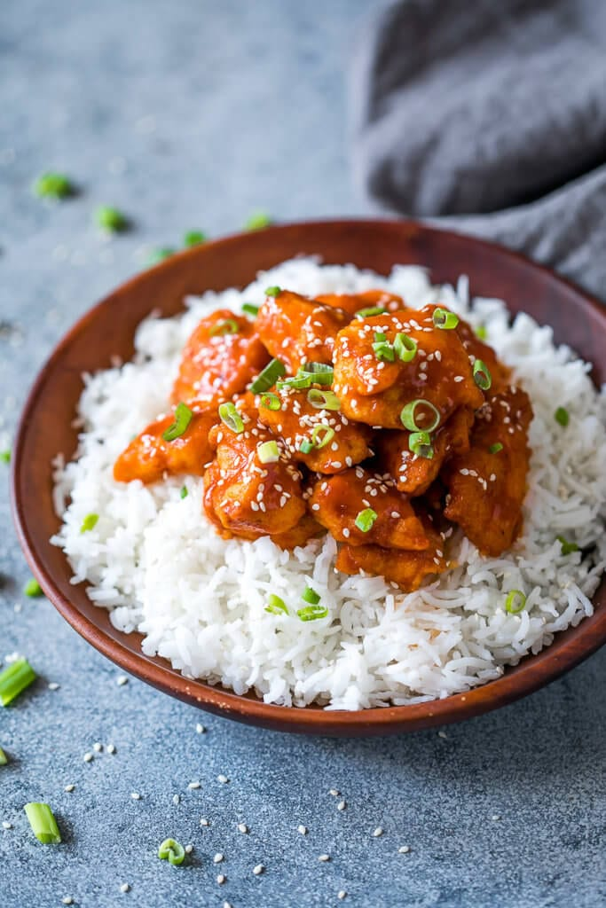 Freezer friendly baked sweet and sour chicken