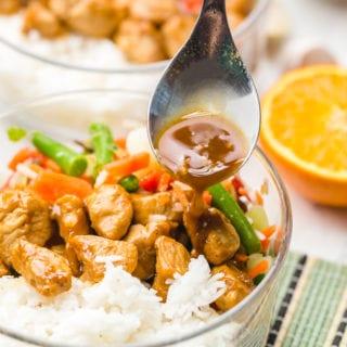 Freezer friendly teriyaki chicken rice bowls, a classic teriyaki bowl with mixed veggies and tender chicken and homemade teriyaki sauce