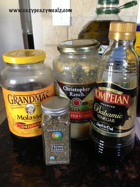 sweet balsamic and garlic marinade