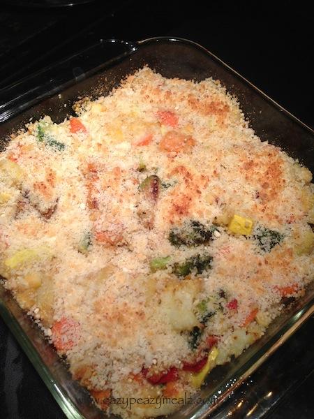 roasted vegetable quinoa casserole freezer meal