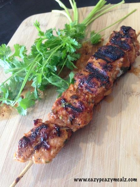 Chili Cilantro Chicken Kabobs
