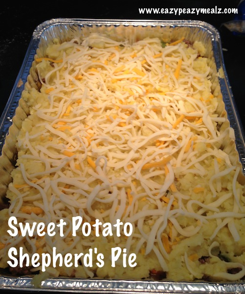 Shepherd's Pie. It uses sweet potatoes (not yams, the sweet potatoes ...