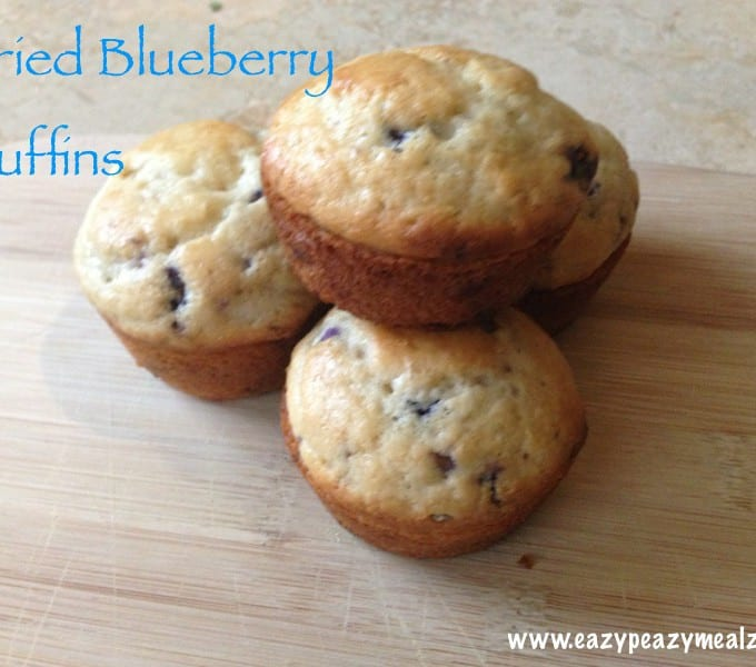Dried Blueberry Muffins