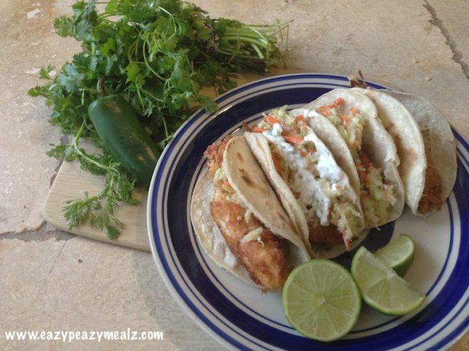 Sweet tilapia fish tacos easy peasy meals for Tilapia fish taco recipes