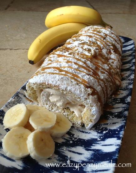 Caramel Banana Cake Roll