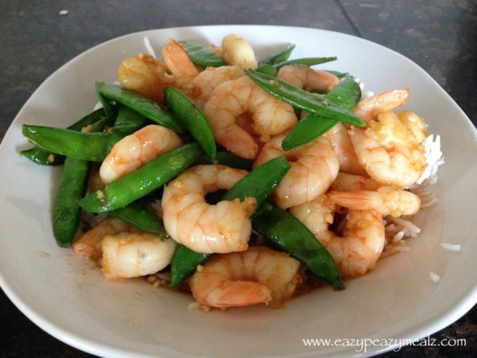 shrimp and snow pea stir fry