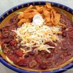 crockpot sweet chili with toppings