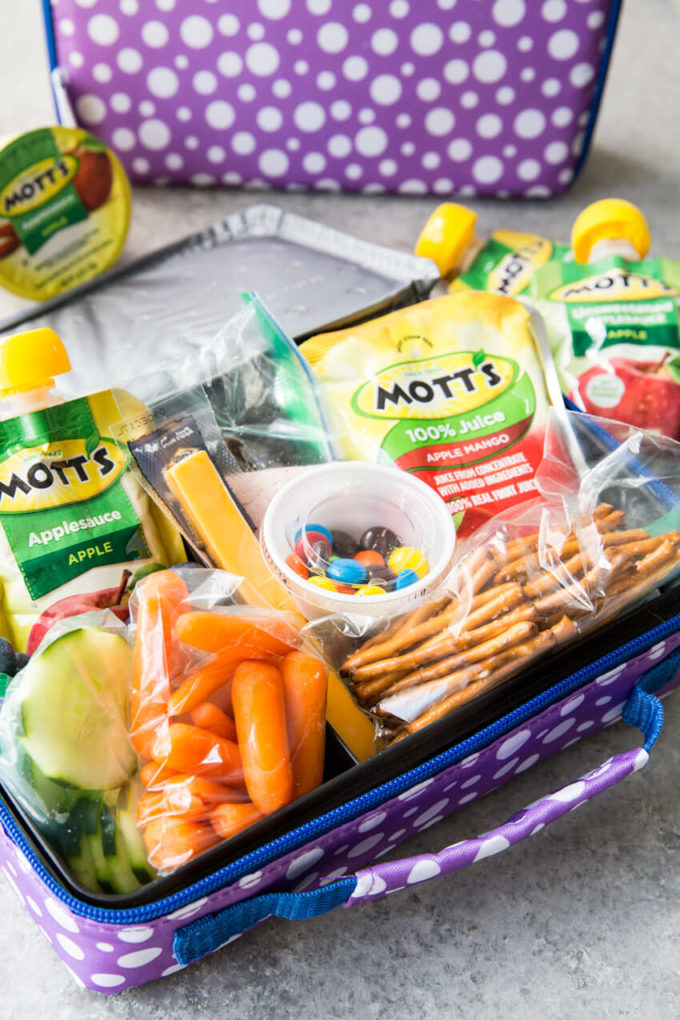 Back to School Lunch ideas for making packing lunches easier. A great system for good for you lunches for kids