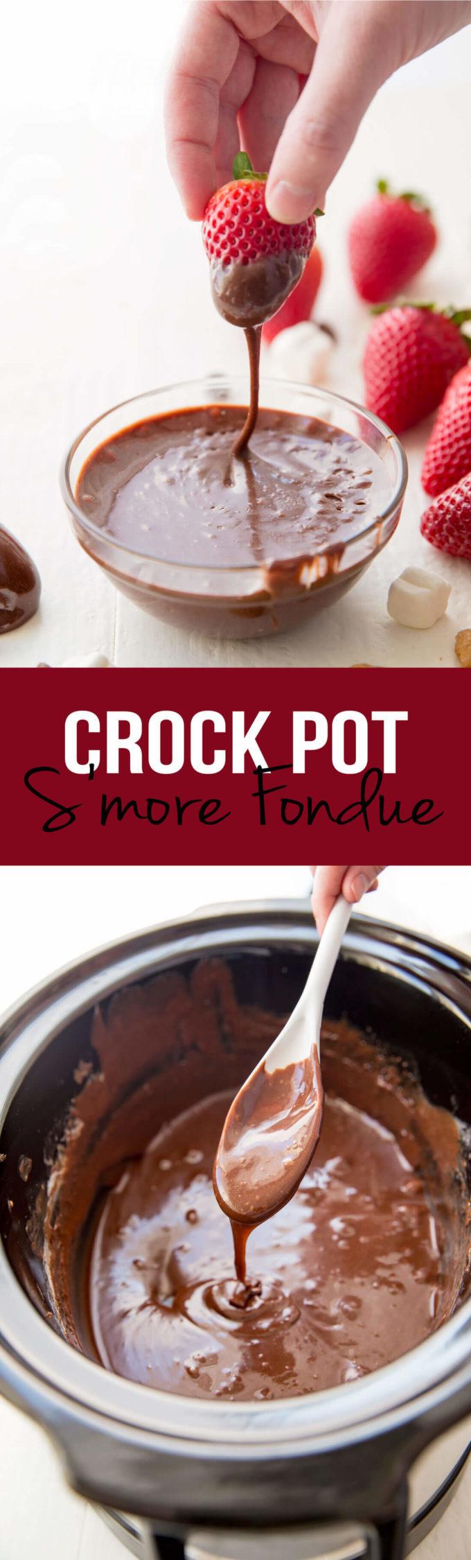 Crockpot S'more Fondue - Eazy Peazy Mealz