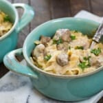 A classic and hearty crock pot beef stroganoff