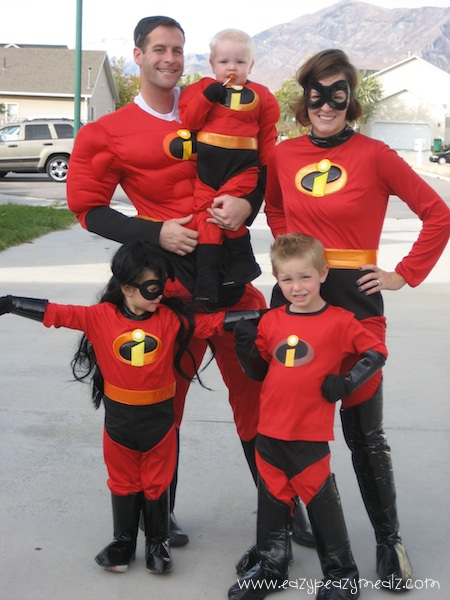 Halloween Incredibles Group Costume