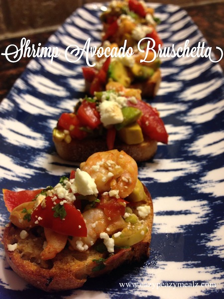 shrimp avocado bruschetta
