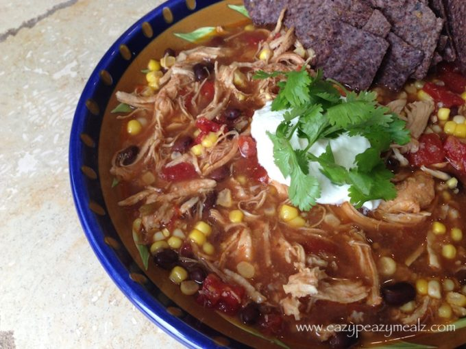Crock Pot Chicken Tortilla SoupCrock Pot Chicken Tortilla Soup