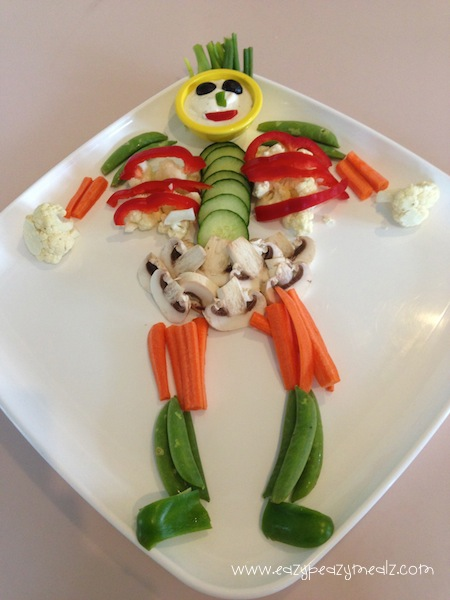 halloween skeleton veggie tray easy peasy meals