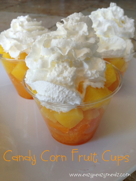Halloween: Candy Corn Fruit Cups