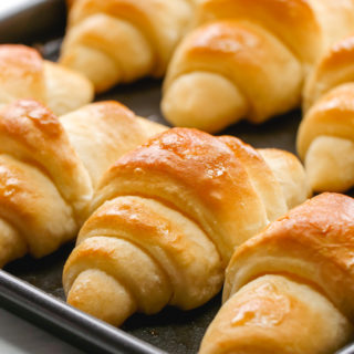 Buttery, browned, delicious crescent rolls.