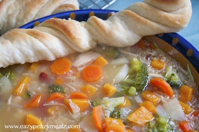 Chicken quinoa veggie soup