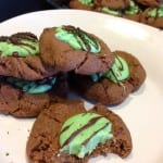 Chocolate mint thumbprints