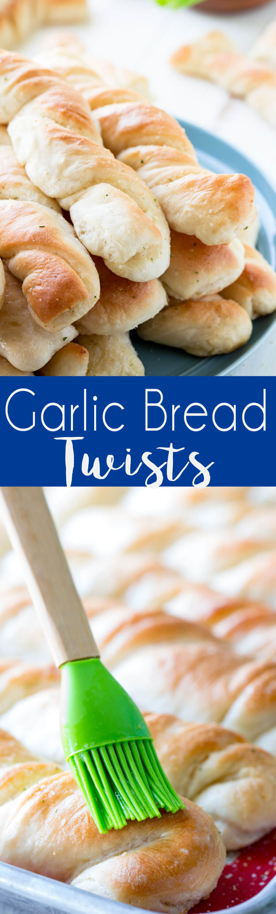 Garlic Bread Twists are easy to make breadsticks