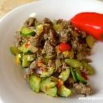 Lettuce wrap sausage and veggie filling