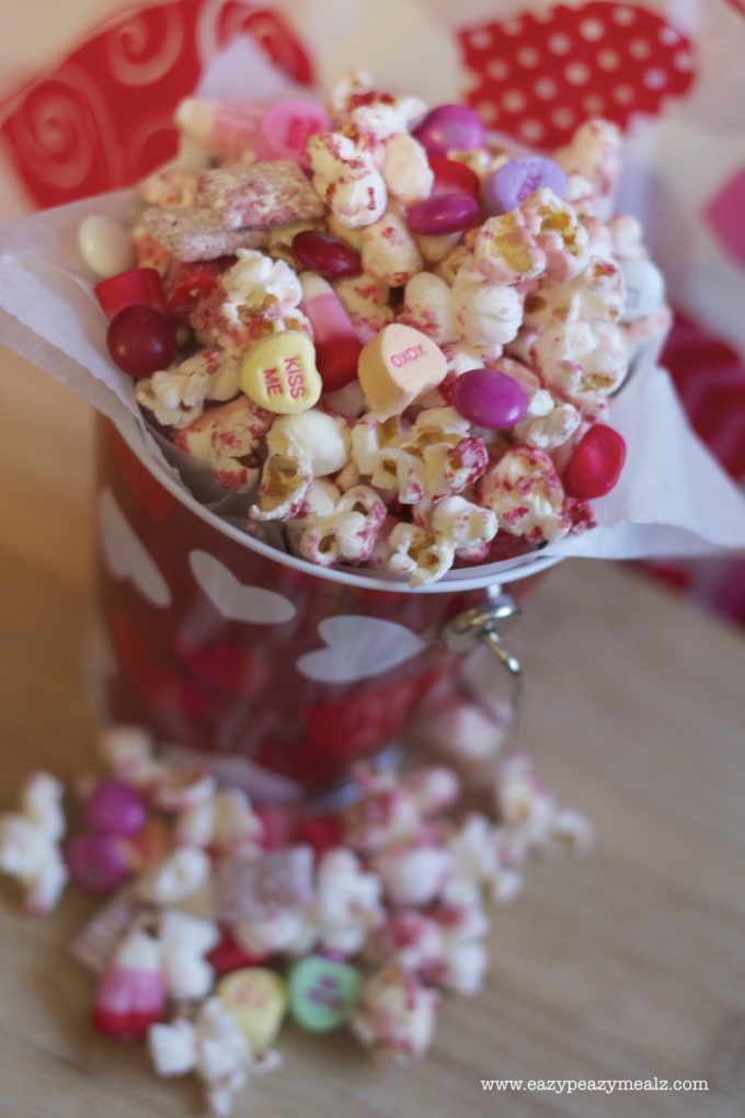... mix 682x1024 Valentines Day White Chocolate Popcorn Muddy Buddy Snack