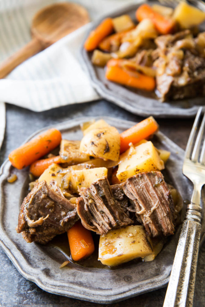 Crock Pot Old Fashioned Roast Potatoes