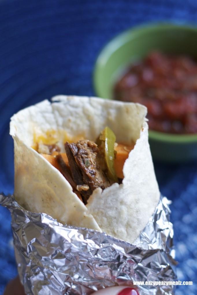 BBQ Pork freezer burrito