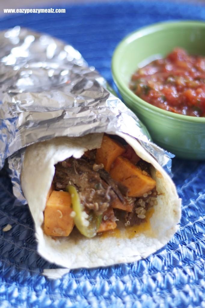 BBQ pork burrito