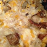 Cheesey skillet potatoes