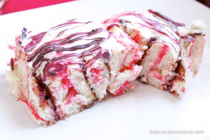 Valentine's Chocolate Drizzle Marbled Cinnamon Rolls ...