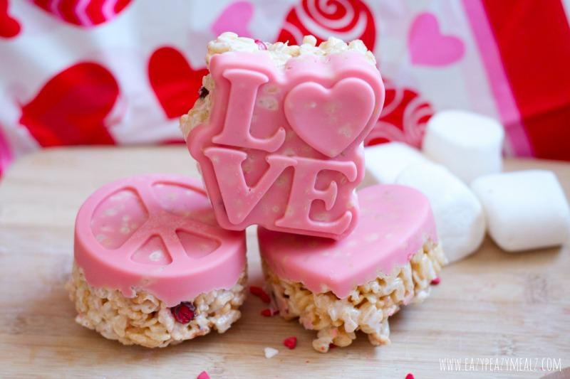 Valentine\'s Day Chocolate Molded Rice Crispy Treats - Eazy Peazy Mealz