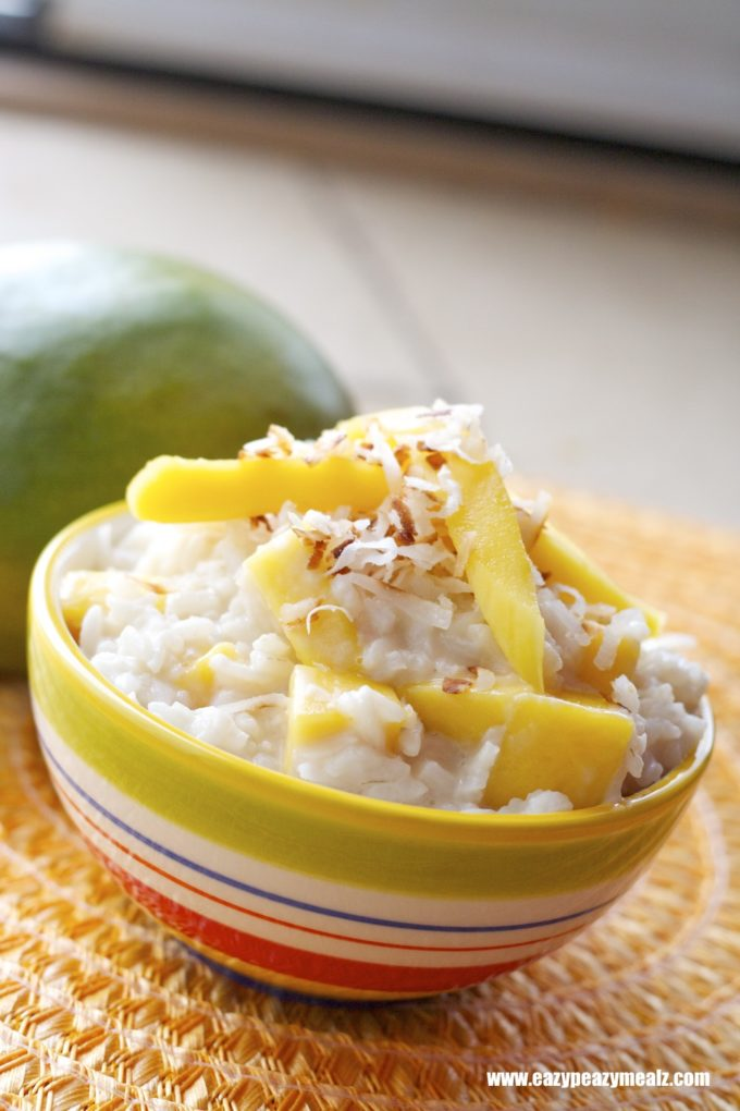 Coconut Mango Rice Pudding (Dairy Free)