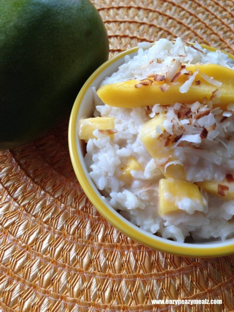 Mango Coconut Rice Pudding Recipe — Dishmaps