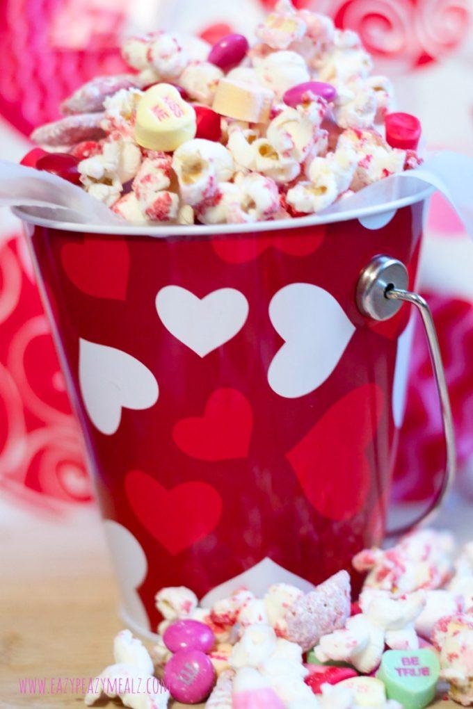 Valentineu0027s Popcorn White Chocolate
