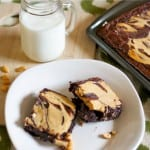 brownies with peanut butter cheesecake swirl