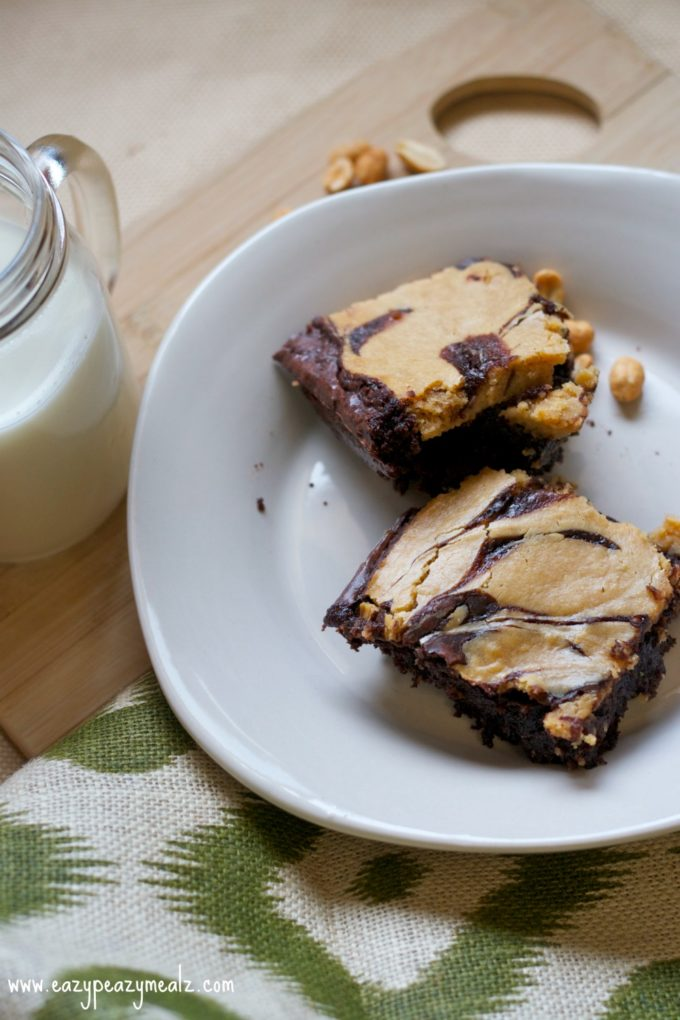 Peanut Butter Cheesecake Swirl Brownies