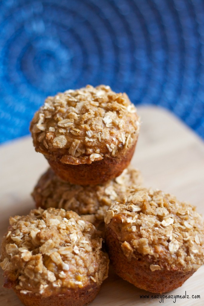 oat muffins with pb and banana