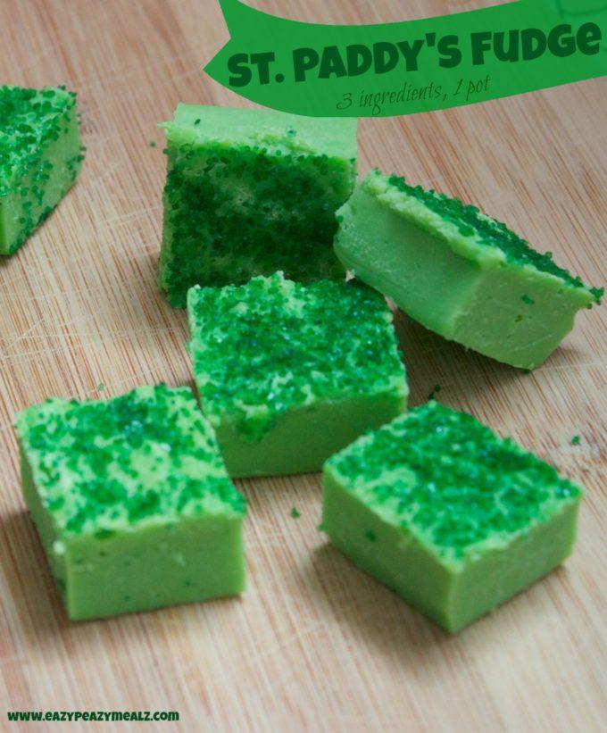 St. Patrick's Day Fudge, 3 Ingredients, 1 Pot