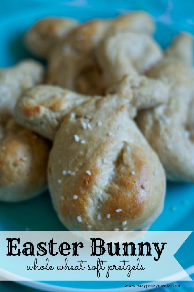 easter bunny whole wheat soft pretzels