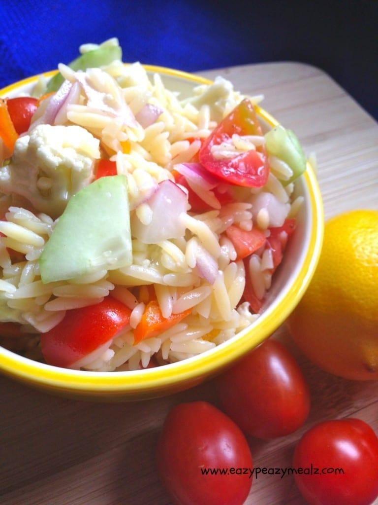 lemon vinaigrette orzo pasta salad