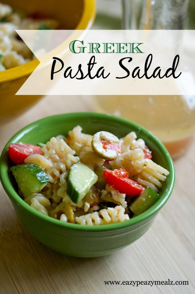 Greek Pasta Salad - Eazy Peazy Mealz