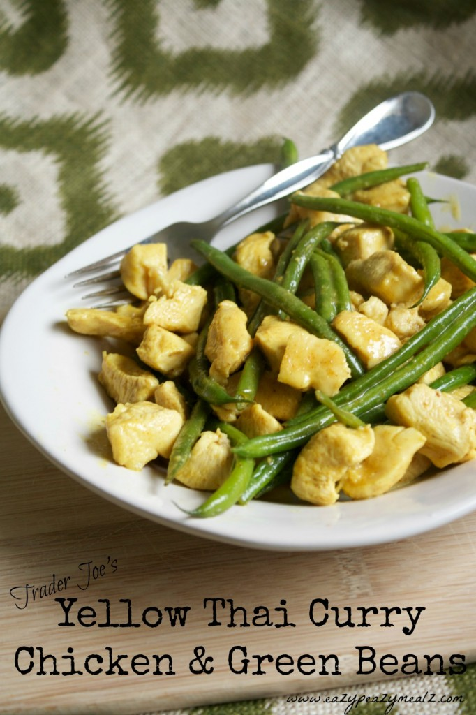 Yellow thai curry and green beans