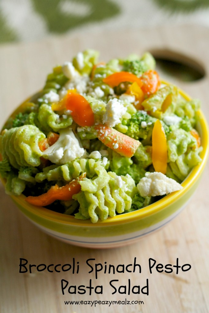 broccoli spinach pesto pasta salad 682x1024 Broccoli Spinach Pesto Pasta Salad
