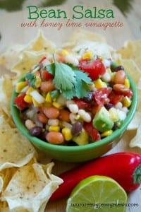bean salsa with honey lime vinaigrette
