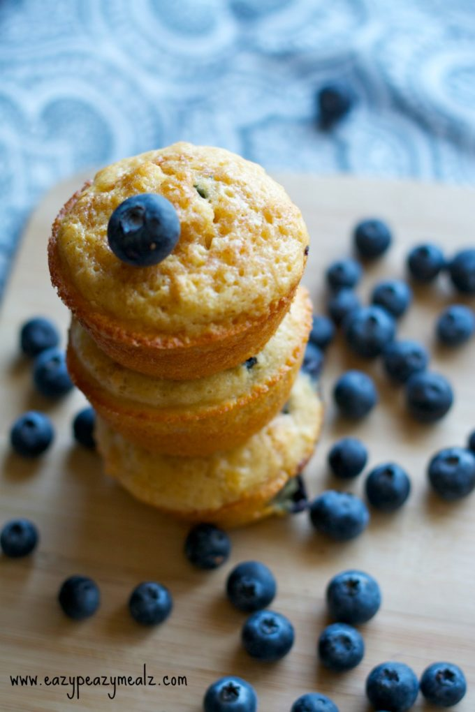 blueberry muffin stack