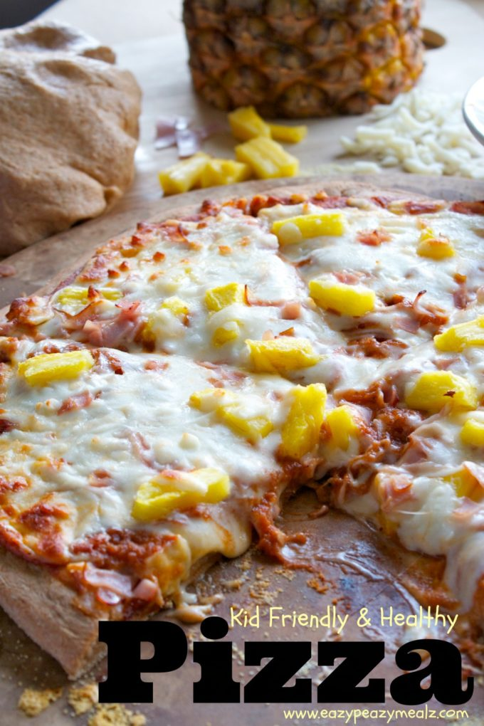 kid friendly and healthy pizza